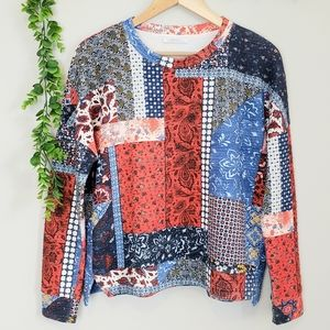 Zara Quilted Patchwork Sweater